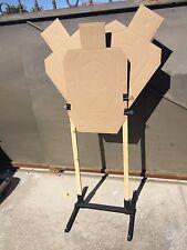 Pair 2 Target Stand Shooting Holder Base USPSA IPSC IDPA 3 Gun Steel USA Coated
