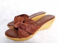 Italian Shoe Makers 9 Brown Sandal Wedge Slip On