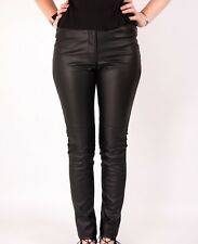 LEATHER LOOK LEGGINGS TROUSERS H AND M STRETCH PANTS NEW WOMENS BLACK SKINNY PU