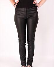 LEATHER LOOK LEGGINGS TROUSERS H&M STRETCH PANTS NEW WOMENS BLACK SKINNY PU
