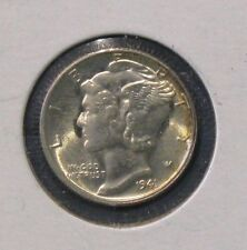 1941-S  Uncirculated Mercury Silver Dime - Full Split Bands -- BU