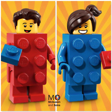 LEGO 71021 Series 18 MINIFIGURES Brick Suit GUY #2 & GIRL #3 CMF Factory-Sealed