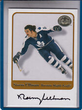 """2001-02 FLEER GREATS OF THE GAME NORM ULLMAN """"TORONTO MAPLE LEAFS AUTOGRAPH AUTO"""