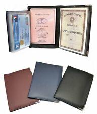 45a5a8c1a0 PORTA DOCUMENTI Carta d'Identità CARTE DI CREDITO Patente Portafoglio 12x8  ...