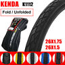 "KENDA K1112 26x1.5/1.75"" Clincher Puncture Resistant Folding Tyre MTB Bike Tires"
