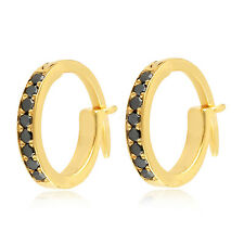 Easter Gift Huggie Earrings Diamond 14k Yellow Gold Jewelry OPS-16940