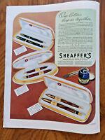 1942 Sheaffer's Fountain Pen Sets Ad  Vigilant Lifetime Triumph Tuckaway