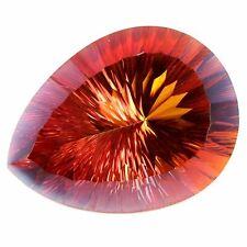 30.05Cts Natural Orange Mystic Topaz Pear Cut Gemstone Brazil
