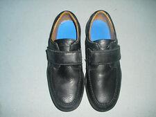 Dr Comfort Scott Black Leather Adjustable Strap Walking Shoes Men's sz 12 W