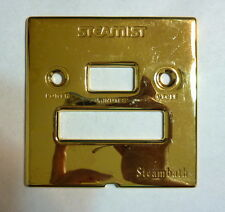 Steamist Cover Plate for Steambath Steamroom Timer Control Unit POLISHED GOLD 24