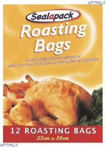 12X Roasting Bags Size: 25cm X 38cm Works In Both Conventional & Microwave Ovens