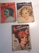 3 alte Zeitschriften - Wahre Geschichten + Fröhliche Geschichten 1931/32  /S77