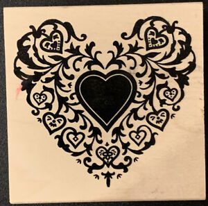 Stampland Ivy Heart Rubber Stamp