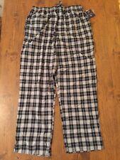 Men's Saddlebred Pajama Lounge Pants Size M Black & White Plaid New NWT
