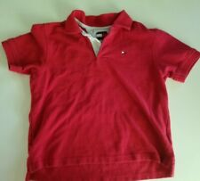 Tommy Hilfiger Size 6 Polo Shirt Red Short Sleeves Summer fall