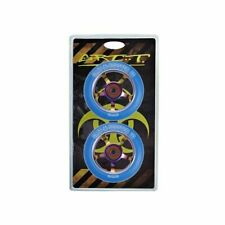 Grit Scooter Wheels 100mm Spoked Alloy Core Wheel 2 Pack Clr CP core / Blue Uret