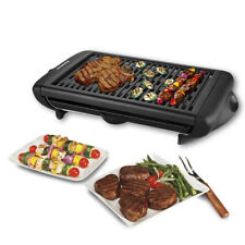 1120W Electric Grill Indoor Barbecue Smokeless Non-Stick Cooking BBQ Griddle US