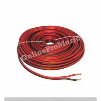 50 Ft RED/BLACK TRUE 16 GAUGE AWG CAR HOME AUDIO SPEAKER WIRE CABLE BPES16. 50