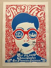 The Who - San Francisco 2019 Poster SIGNED by Roger Daltrey & Pete Townshend!