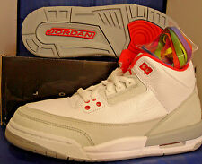 2011 Nike Girls Air Jordan 3 III Retro White Rainbow Youth SZ 4Y ( 441140-101 )