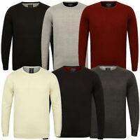 Kensington Mens Logi Crew Neck Jumper Classic Soft Knitted Pullover Sweater Top