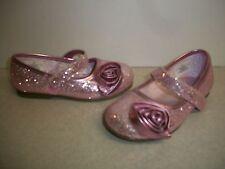 Girl Toddler Pink GlitterRoseBud MaryJanes Sz 6 New w Defects