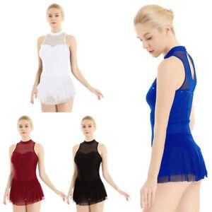 Adult Women Gymnastics Ballet Dress Leotard Skirt Dance Ballerina Costumes