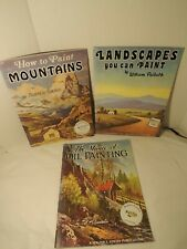 Vintage Walter Foster Painting Books Lot of 3 Mountains Landscapes Barn Lakes