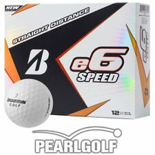 12 BRIDGESTONE E6 SPEED MODEL 2017 WHITE - GOLF BALLS - NEW - 1 DOZEN