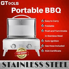Portable Folding Stainless Steel LPG BBQ Cooking Grill