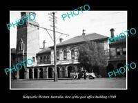 OLD LARGE HISTORIC PHOTO OF KALGOORLIE WESTERN AUSTRALIA, THE POST OFFICE c1940