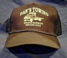 Vintage New Dan's Towing Snapback Trucker Hat NICE