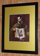 "Incorniciato 12"" x16"", El Greco, St. Luke, i comandanti dipinti, BIBBIA DIPINTI"