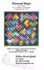 Diamond Magic Interlocking Block Willow Brook Quilt Pattern