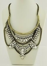 Baublebar - Antique Crystal Floral Burst Bib Statement Necklace
