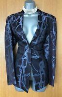 Exquisite Karen Millen UK 10 Brown / Grey Tailored Classic Blazer Jacket EU 38