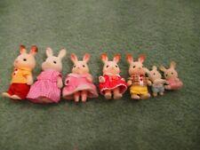 Calico Critter Sylvanian Bunny Family of 6