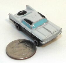 Small Micro Machine 1960 Chrysler Imperial 2 Tome Whiite & Black