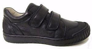 Bo-Bell Outside Boys Black Leather School Shoe