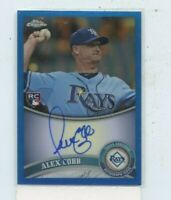 ALEX COBB 2011 Topps Chrome Rookie Blue Refractor Auto Autograph #D /199