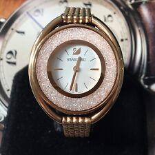 Ladies Swarovski Watch CRYSTALINE Swiss Made Quartz Rose Steel Genuine 5200341