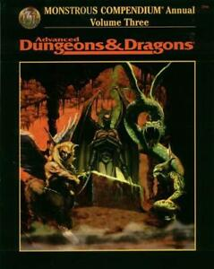 TSR AD&D 2nd Ed Monstrous Compendium Annual #3 VG+
