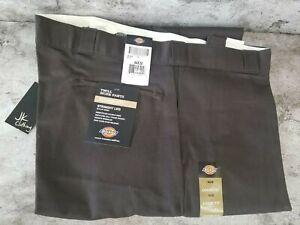 Dickies 85283DB Mahogany Brown Double Knee Pocket Loose Fit Twill Work Pants