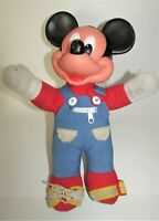"Vintage 1989 Mattel Walt Disney Mickey Mouse Learn To Dress Me Doll 15"" Tall"