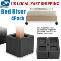 4Pcs/Set Heavy-Duty Bed Riser Elevator Furniture Lifter Legs Bed Under Storage