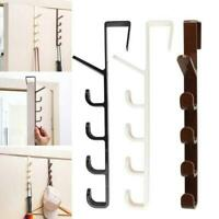 5 Hooks Metal Under Shelf Mug Cup Cupboard Kitchen Organiser Hanging Rack Holder