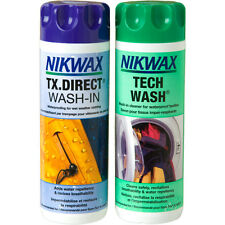 Nikwax TECH WASH & TX DIRECT 300ml Twin Pack Clothing Waterproofing Walking