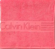 "NEW CALVIN KLEIN SALMON CORAL ICONIC PINK COTTON BATH, BEACH TOWEL - 30"" x 56"""
