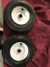 pair of pneumatic wheels and tires 13x5.00-6