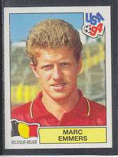 Panini - USA 94 World Cup - # 389 Marc Emmers - Belgique (Black Back)